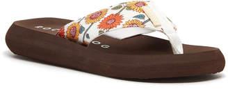 Rocket Dog Women's Sandals WHITE - White & Brown Floral Spotlight Sandal - Women