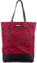 Rebecca Minkoff Leopard Leather-Trimmed Tote