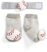 Mud Pie Infant Baseball Wrist Rattle & Sock Set