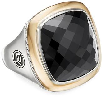 David Yurman Albion 18mm Silver/Gold Statement Ring