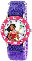 Disney Girl's 'Elena of Avalor' Quartz Stainless Steel and Nylon Automatic Watch, Color:Purple (Model: W003036)