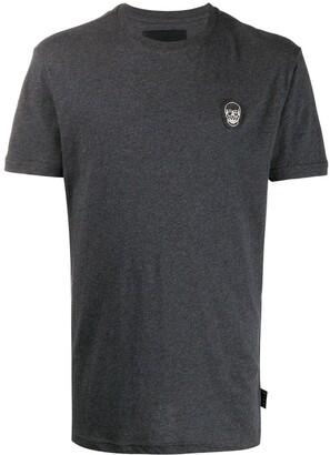Philipp Plein Skull logo patch T-shirt