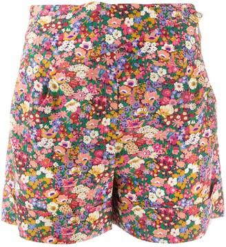 BLAZÉ MILANO Floral Print Silk Shorts