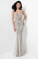 Terani Couture Full Length Beaded Sleeveless Evening Gown 1711GL3552