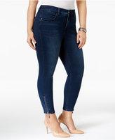 Melissa McCarthy Trendy Plus Size Ziggy Wash Zip-Cuff Jeans