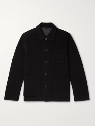 Mr P. Double-Faced Splitable Virgin Wool-Blend Overshirt