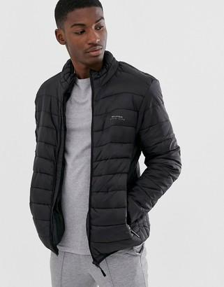 Bellfield funnel neck puffer jacket-Black