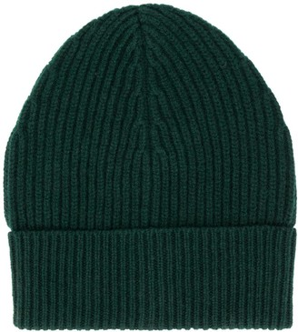 Maison Margiela Ribbed Wool Beanie Hat