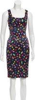 Dolce & Gabbana Sleeveless Polka-Dot Knee-Length Dress