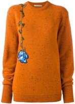 Christopher Kane embroidered floral sweater - women - Wool - XS