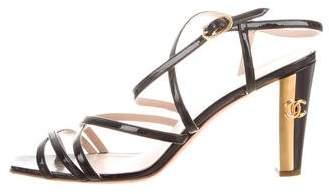 Chanel Patent Leather CC Sandals