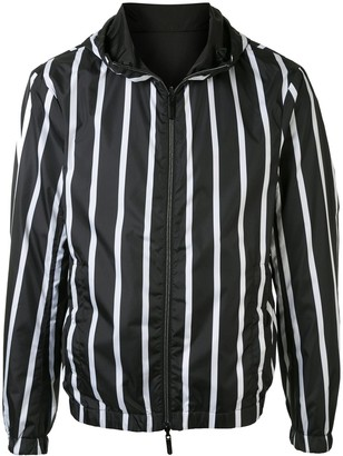 Emporio Armani Striped Hooded Jacket