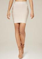 Bebe Solid Bandage Skirt