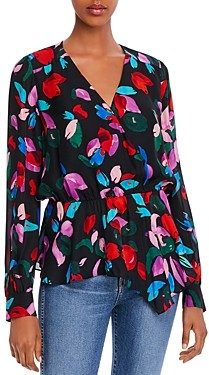 Parker Alyssa Floral Peplum Blouse