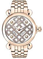 Glam Rock Women's Vintage 40mm Rose Gold Plated Bracelet & Case Quartz White Dial Analog Watch GR28039-BR