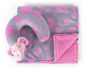 Tadpoles Travel Pillow and Blanket Set, Crib Bedding