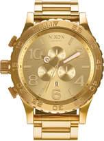 Nixon Men's 51-30 Chronograph Gold-Tone Stainless Steel Bracelet Watch 51mm A083