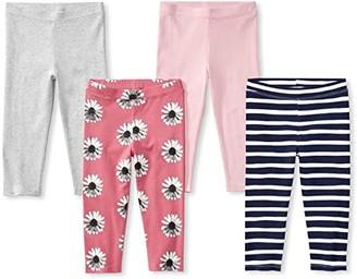 Spotted Zebra Capri Leggings 4-Pack (Little Kids/Big Kids) (Floral) Girl's Clothing