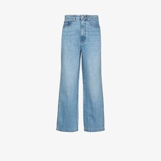 Nanushka Jane straight leg cropped jeans