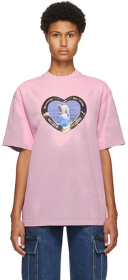we11done Pink Thermo Sensitive Polar Bear T-Shirt