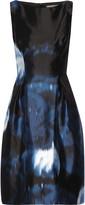 Lela Rose Printed silk-satin mini dress