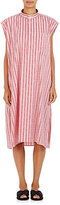 Balenciaga Women's Striped Cotton Sleeveless Shirtdress