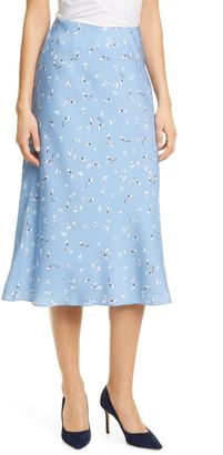 Nordstrom Signature Stretch Silk Midi Slip Skirt