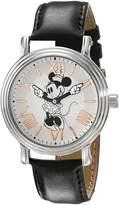 Disney Women's W001858 Minnie Mouse Analog Display Quartz Black Watch
