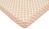 T.L.Care TL Care Orange Tile Fitted Crib Sheet