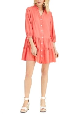 Tommy Hilfiger Ruffled Button-Down Dress