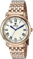 Croton Men's CN307532RGIV HERITAGE Analog Display Quartz Rose Gold Watch