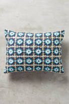 Anthropologie Tile-Embroidered Pillow