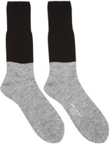Comme des Garcons Black and Grey Colorblocked Jersey Socks