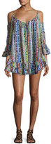Ale By Alessandra Beach Blanket Cold-Shoulder Coverup Dress