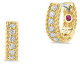 Roberto Coin Symphony Braided Diamond & 18K Yellow Gold Huggie Hoop Earrings/0.3