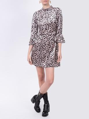 HVN Leopard Mini Dress