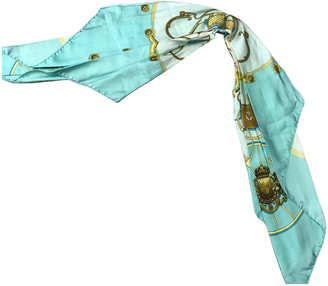 Hermes Turquoise Silk Scarves