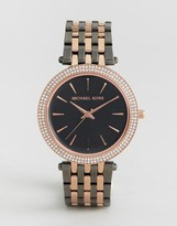 Michael Kors Rose Gold & Gunmetal Darci Watch