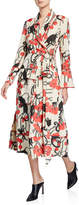 F.R.S For Restless Sleepers Acaste Cherry Jacquard Robe Jacket