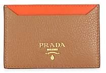Prada Women's Bi-Color Leather Card Case