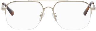 McQ Gold Metal Square Glasses