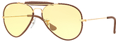 Ray-ban Rb3422q Outdoorsman Craft Aviator Sunglasses, Gold/yellow