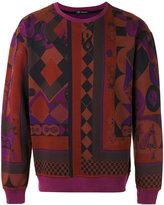 Versace geometric print sweatshirt - men - Cotton - M