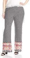 Notations Women's Plus Size Printed Palazzo