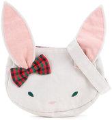 Familiar rabbit motif shoulder bag - kids - Cotton/Hemp - One Size