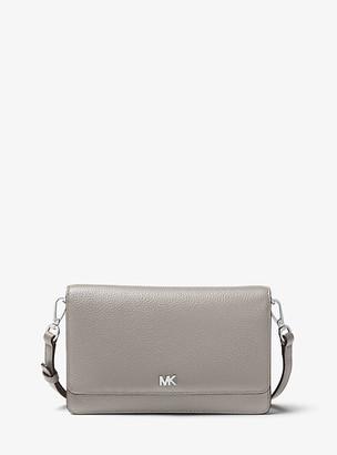 MICHAEL Michael Kors MK Pebbled Leather Convertible Crossbody Bag - Pearl Grey - Michael Kors