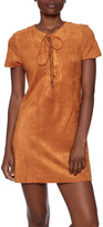 Do & Be Cognac Faux Suede Dress