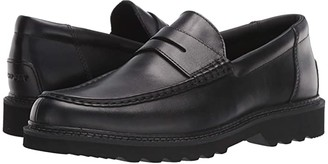 Rockport Peirson Penny Keeper (Black Brush Off Leather) Men's Shoes