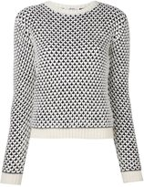 Julien David heart pattern jumper