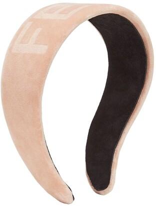 Fendi Tonal Logo Headband